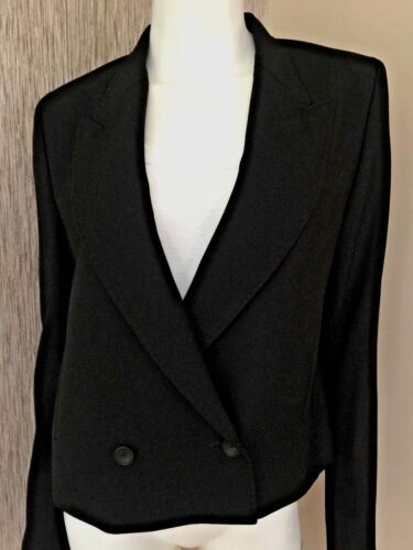 PS PAUL SMITH DOUBLE BREASTED CROPPED MERINO WOOL JACKET BLAZER UK SIZE 12/14