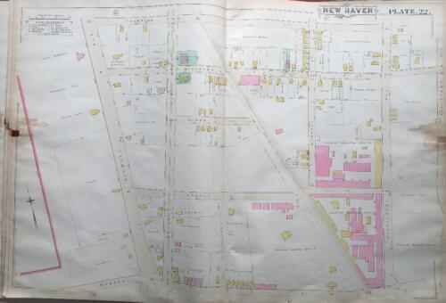 1888 DIXWELL NEW HAVEN CT WINCHESTER REPEATING ARMS COMPANY ATLAS MAP