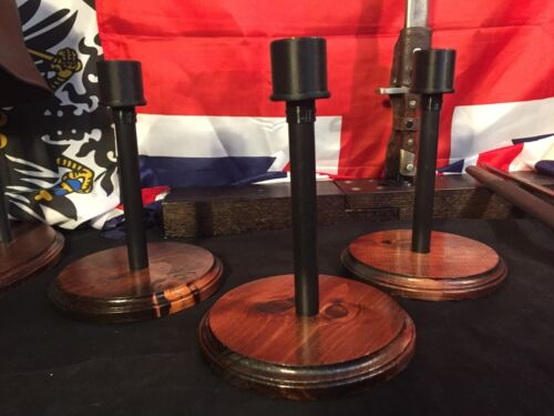 HELMET STAND-Military - German, US, WWI,WWII, OWC-I-C, Old World Classic finish Hats & Helmets - 4722