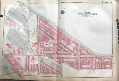 1925 E PARKSIDE W PHILADELPHIA PA STEPHEN SMITH HOME FOR AGED COLORED ATLAS MAP