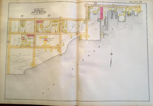1891 SOUTH BOSTON CMA M L ST TO FARRAGUT ROAD & E 6TH ST TO OLD HARBR ATLAS MAP