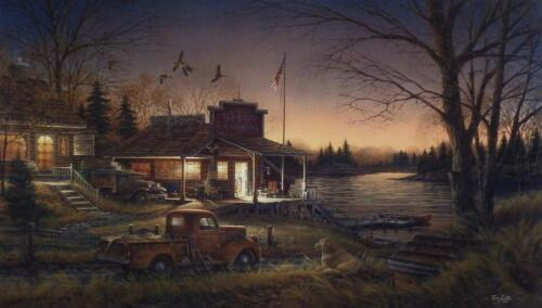 "Terry Redlin Total Comfort Country Store Nostalgic  Art Print With COA 24"" x 14"""