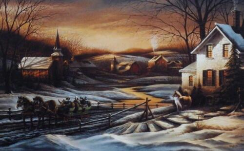 """Terry Redlin """" Together For the Season"""" Horse and Sleigh Art Print 13.75"""" x 8.75"""