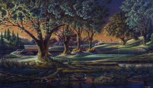 "Terry Redlin "" Spring on the Green Golf  Art Print With COA 24"" x 14"""