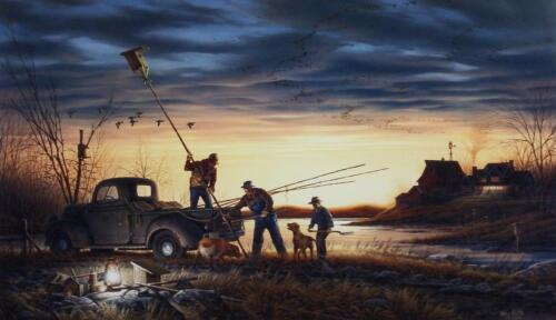 "Terry Redlin The Conservationist"" Duck Waterfowl  Art Print With COA 24"" x 14"""