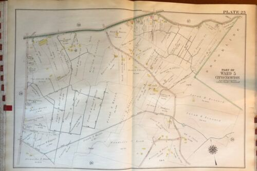 1917 OAK HILL PLAYGROUND SOUTH NEWTON H.S. MASSACHUSETTS KENNARD PARK ATLAS MAP