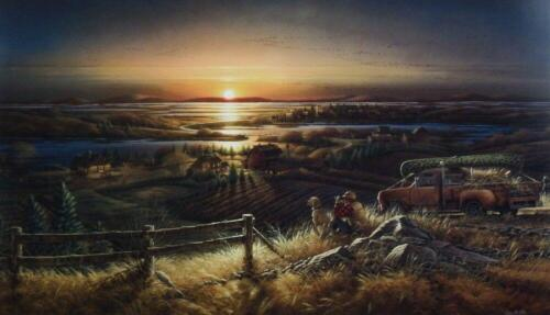 Terry Redlin Best Friends Hunting and Dog  Art Print with Certificate 24 x 14