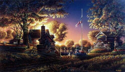 Terry Redlin Good Evening America  Art Print with Certificate 24 x 14
