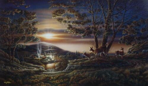 Terry Redlin Sharing the Sunset Art Print with Certificate 24 x 14