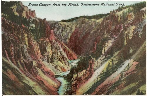 Grand Canyon From the Brink, Yellowstone National Park Postcard