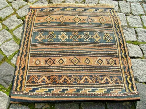 Fabulous Antique Awesome Caucasian Collector's Piece Embroidery Kilim Bag Face
