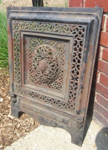 Antique Cast Iron Fireplace Summer Cover