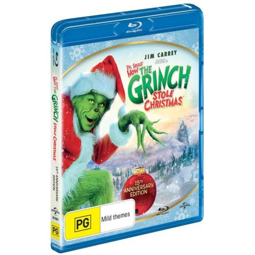 How THE GRINCH Stole Christmas - 15th Anniversary Ed. : NEW Blu-Ray : Jim Carrey