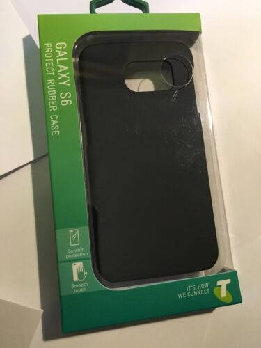Telstra Hard Protect Rubber Case - Black for Samsung Galaxy S6 Brand New Package