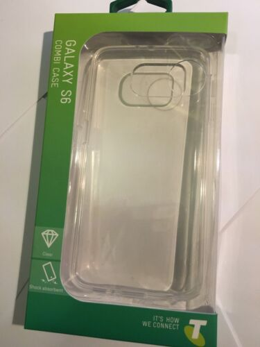 Telstra Combi TPU Protector Case - Clear for Samsung Galaxy S6 Brand New Package