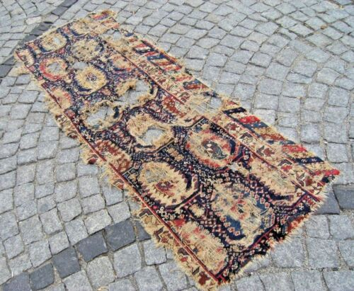 Fabulous Antique Rug 1900's  Awesome Caucasian Collector's Piece Fragment Rug