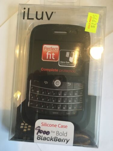 BlackBerry 9000 Bold Silicone Case in Black by iLuv. Brand New in Original pack