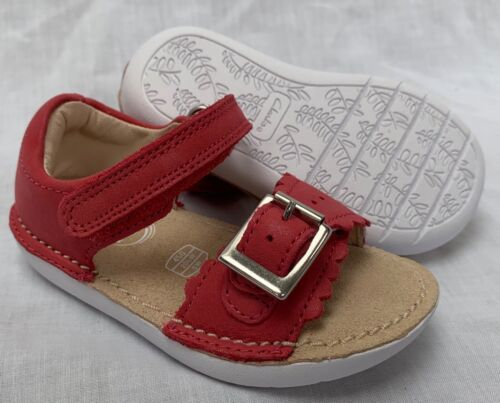 2489ed1c459 BNIB Clarks Girls Ivy Flora Pink Leather Air Spring First Sandals F G  Fitting