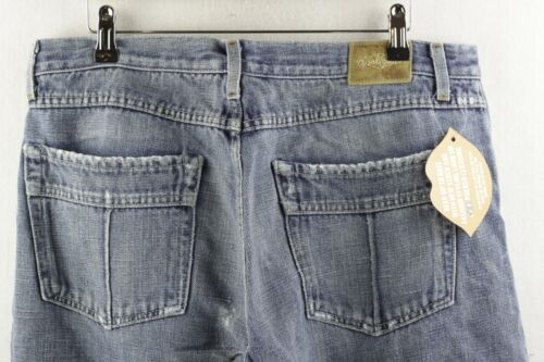 LIMITED EDITION Mens EARL JEANS Button Fly RELAXED FIT Ripped W34 L34 P81