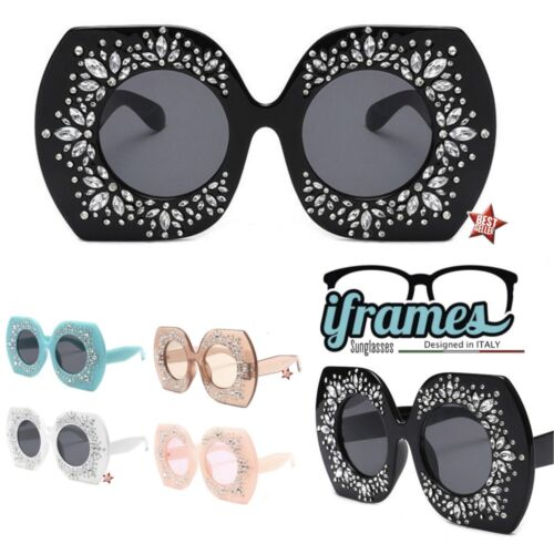 Occhiali da Sole iFrames Over Size Fla Gradient Vintage Donna 2019 Mod BUTTERFLY