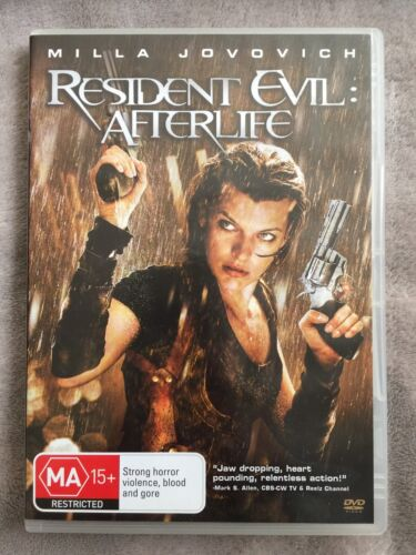 RESIDENT EVIL: AFTERLIFE. milla Jovovich DVD Excellent Cond. FREE POST