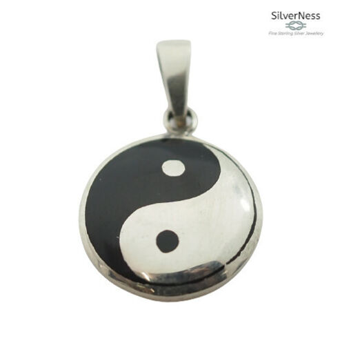 SilverNess Jewellery Ying Yang Pendant: 925 Sterling Silver