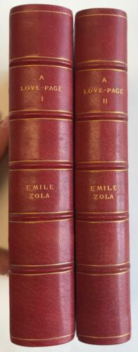 Emile Zola A Page of Love Two Volumes George Barrie Fine Binding Limited #1/10
