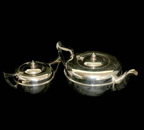 Vintage silver plated EPNS Empire Plate art deco teapot and sugar bowl