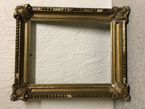 Antique 27x21 19th Century Baroque Gold Victorian Picture Frame