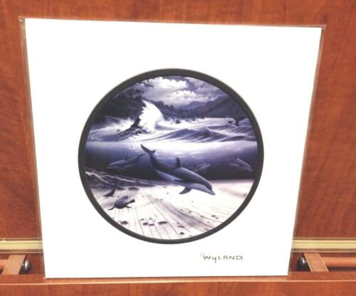 By Wyland And De Shazo Double Matted With Silver Foil Stamp (Undersea World)