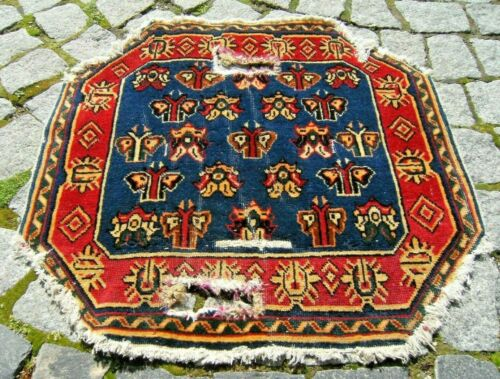 Stunning Antique Amazing Collector's Caucasian Distressed Horse Saddle Cover Rug