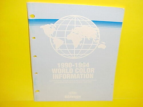 1990-1994 DUPONT PAINT WORLD COLOR INFORMATION BOOK CAR+TRUCK DOMESTIC+IMPORTED