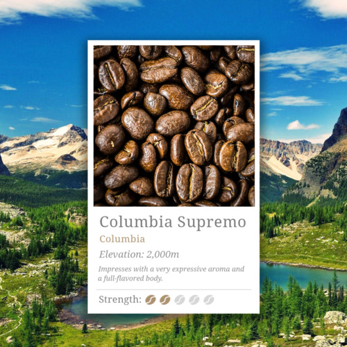 Columbia Supremo Coffee Beans, 100% Arabica, High Grade Specialty Coffee