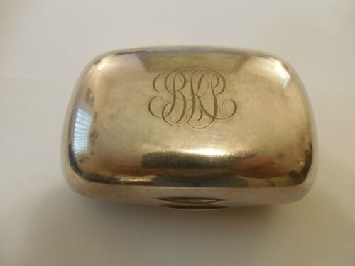 Vintage Tiffany & Co Silver Soldered Box ~ Weighs 108.2 grams ~ Monogrammed