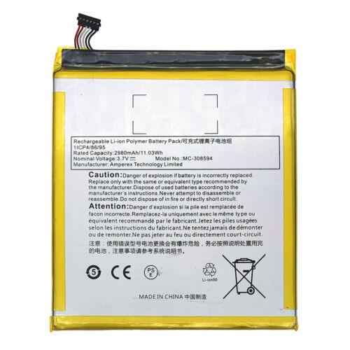 """Battery For Amazon Kindle Fire 7"""" 5th Generation SV98LN (2015 Year) MC-308594"""