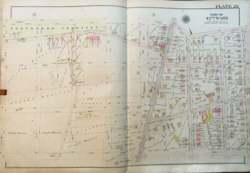 1913 OAK LANE PHILADELPHIA, PENNSYLVANIA ELLWOOD SCHOOL ATLAS MAP