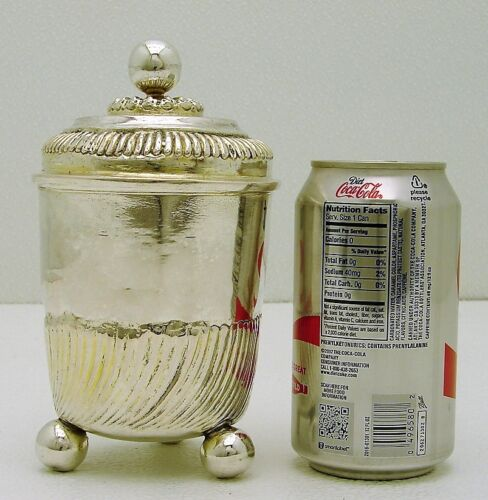 Leipzig Germany Hand Wrought Solid Silver Lidded Cup Hallmarked GS Maker c 1680