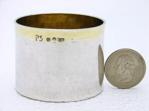 Swedish Solid Silver Toasting Coin Cup Hallmarked CH c1821 w 1755 Coin Gold Rim