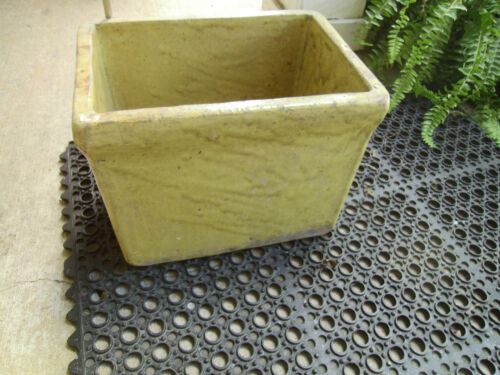 RARE! Antique U.S. Stoneware Co of Akron, Ohio Stamped #4 Mustard Glaze Crock