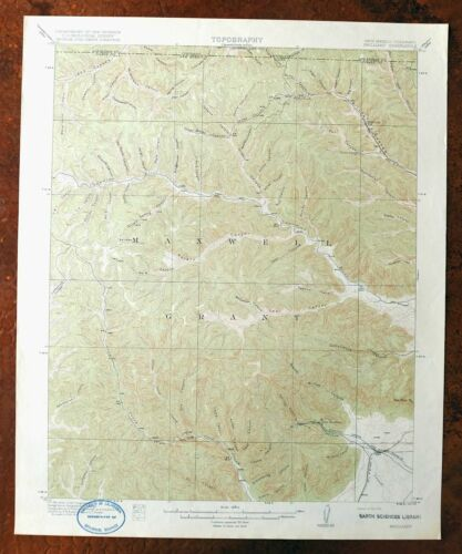 1915 Brilliant New Mexico Colorado Antique USGS Topographic Map west of Raton