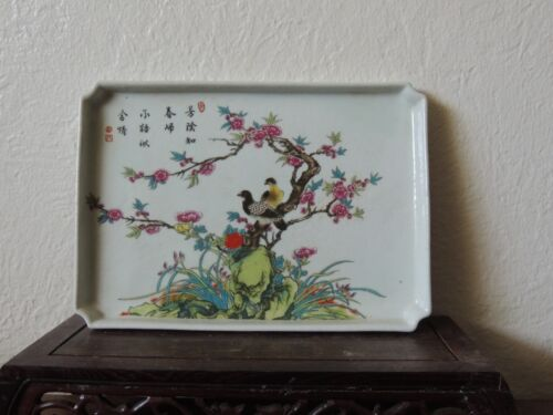 Antique Chinese Hand  Painting Tray