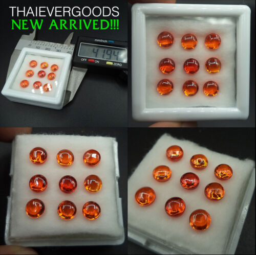 REAL NAGA GEM ORANGE MINI SET POWER GOOD FORTUNE LIFE THAI AMULET [temple box]