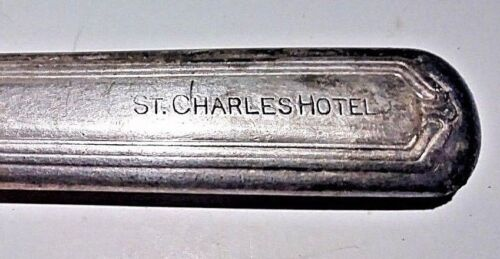 """Antique Silverplate Knife St Charles Hotel New Orleans Louisiana Hallmarked 9"""""""