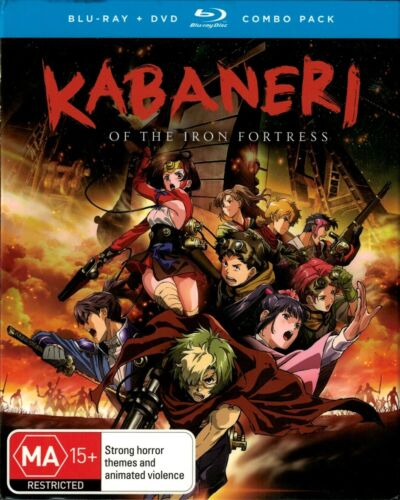 KABANERI OF THE IRON FORTRESS - Blu-ray [B][A] + DVD [4][2][1] - BRAND NEW