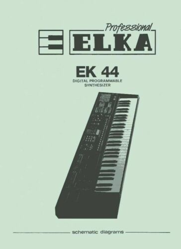Welsh/'s Synthesizer Cookbook patches for Elka Synthex ED-22 /& EM-22