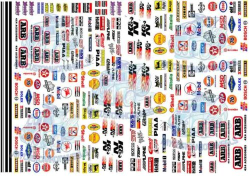 Racing Decals - Pack 4 | Waterslide transfers for all popular scale model cars