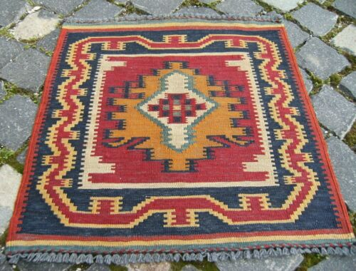 CAUCASIAN RUG 1.6 x 1.6 ft NEVER USED HAND FLAT WOVEN KILIM RUG HIGH QUALTY RUG