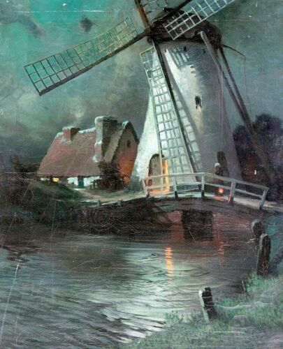 Windmill Home Decoration Country Style George Ames Aldrich CANVAS PRINT 8x10