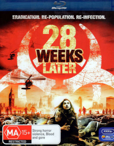 28 Weeks Later - Robert Carlyle, Jeremy Renner, Idris Elba - New Sealed Blu-ray