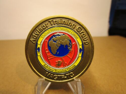 USMC Marine Corps Air Ground Task Force Training Command Challenge Coin #7727 Other Militaria (Date Unknown) - 66534